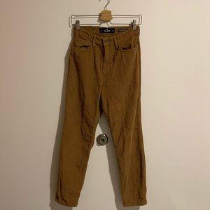 brown corduroy high-waisted pants